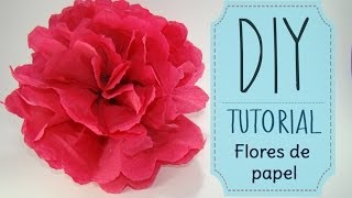 DIY Tutorial  Como hacer flores de papel Crepe o China  Kaele �