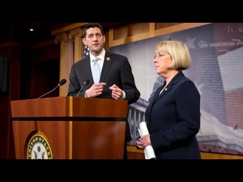 ryan - Rep. Paul Ryan and Sen. Patty Murray say they've reached a budget deal that will avert a government shutdown in January.