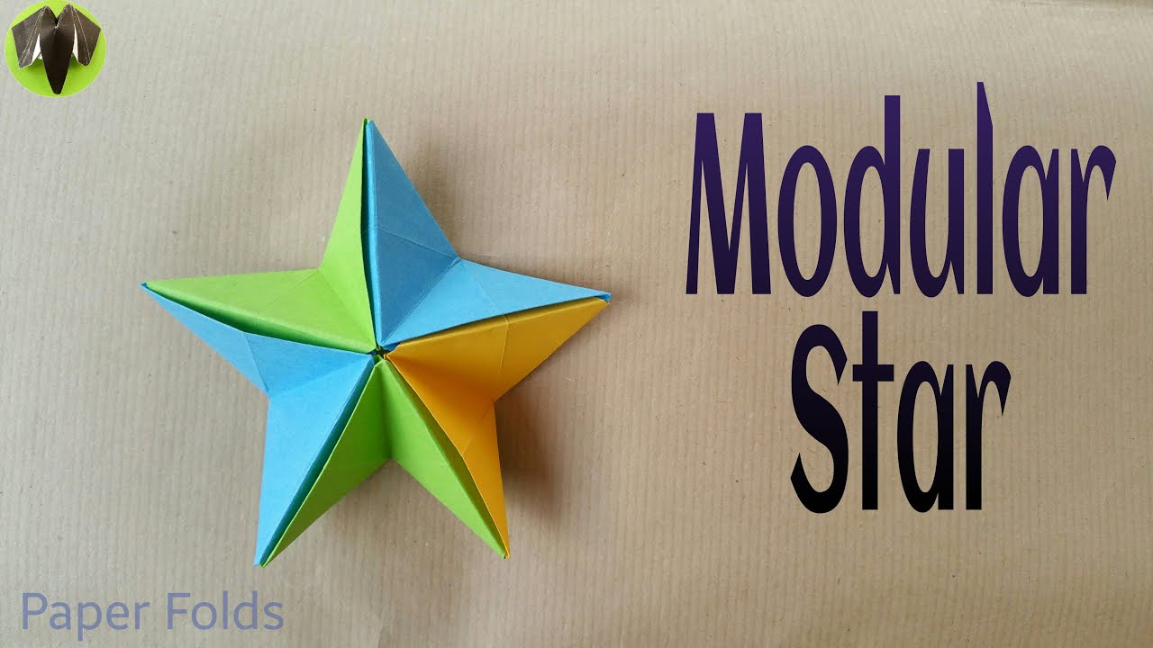 How To Make A Paper Modular Star Very Easy Origami Tutorial