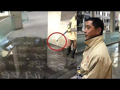 العرب اليوم - بالفيديو: عامل نظافة بدرجة فنان