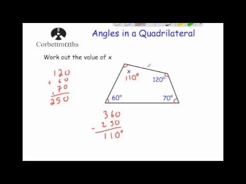 Angles In Quadrilaterals Corbettmaths