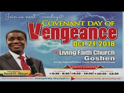 Covenant Day Of Vengeance (1st Service) October 21, 2018