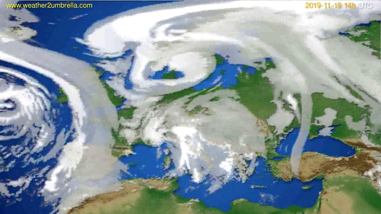 Cloud forecast Europe // modelrun: 12h UTC 2019-11-17