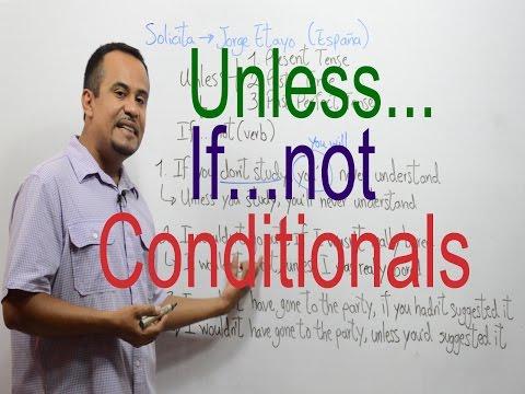 CONDICIONALES en INGLES - Unless - If not