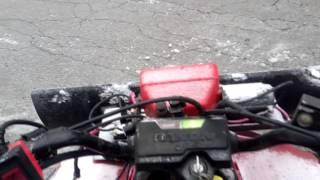 9. Can a 2x4 ATV Plow Heavy Snow? (honda Trx200SX) - HQ -