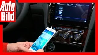 Connected Car: VW Golf 7 Facelift - Das Discover Pro mit Smartphone (2016) by Auto Bild