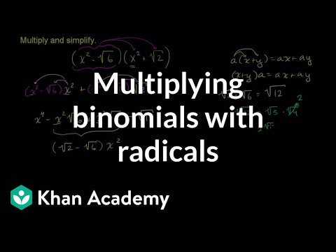 Multiplying Binomials With Radicals Old Video Khan Academy