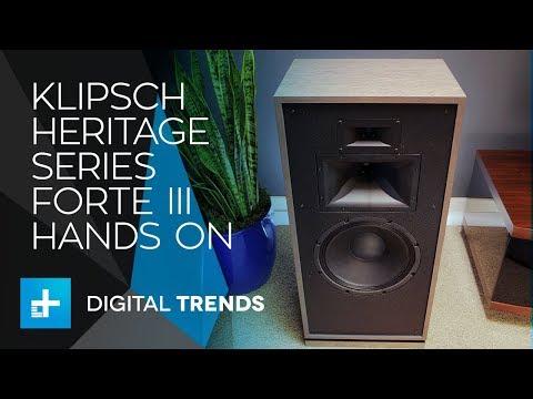Klipsch Heritage Series Forte III Speakers - Hands On Review (видео)