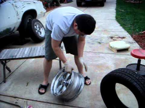 rim tyre - SIMPLE STEP BY STEP ON HOW TO PROPERLY INSTALL A TIRE ON A RIM WITH NO MACHINE USED - OLD SCHOOL WAY FROM THE DAY -