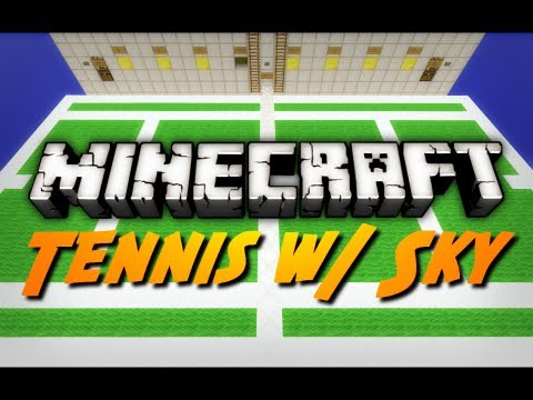 Minecraft Mini-Game: TENNIS! w/ SkyDoesMinecraft!