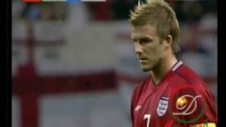 WM 2002: Beckham verwandelt Elfmeter gegen Argentinien