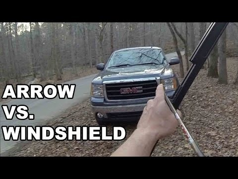 Arrow vs. Windshield! Survival Bow and Vertical Crossbow