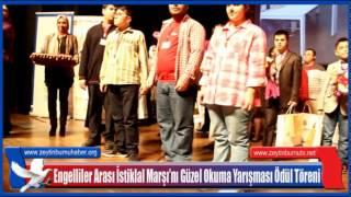 Engelliler Arası İstiklal Marşı'nı Güzel Okuma Yarışması Ödül Töreni