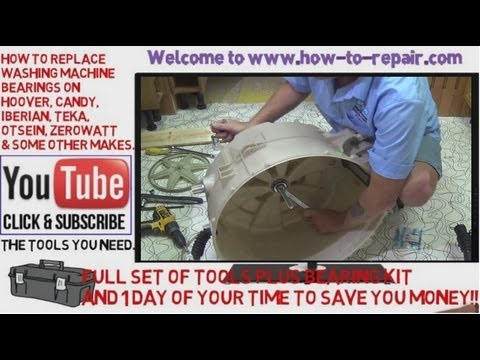 How to replace washing machine bearings on Candy, Hoover, Otsein, Zerowatt.
