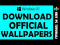 Download Windows 10 Official Wallpapers - YouTube