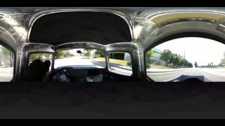 360VR view behind the wheel of a 1956 Chevy Pickup by Hot Rod Magazine