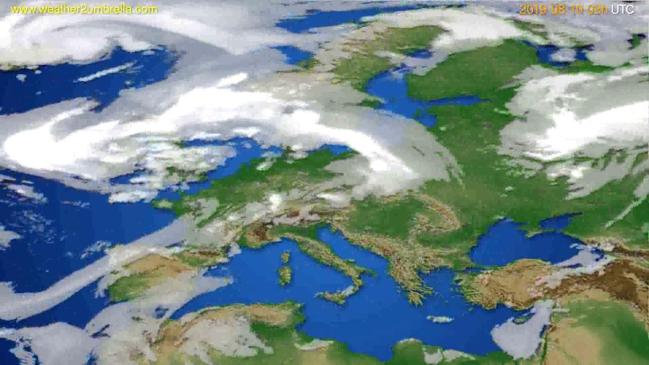 Cloud forecast Europe // modelrun: 00h UTC 2019-08-07