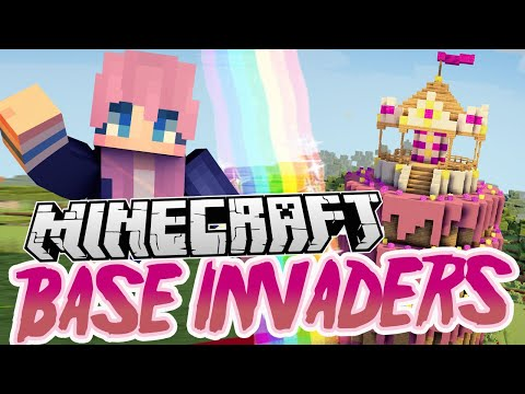 Birthday Cake Base! | Minecraft Base Invaders Challenge