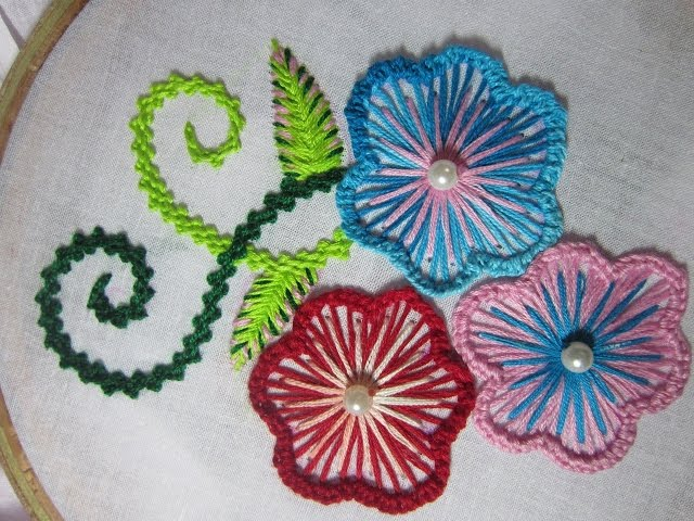 Hand embroidery designs cushion cover design stitch and