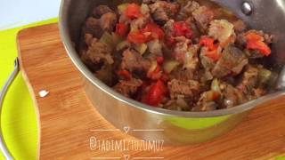 kavanozda patlıcanlı et yemeği tarifi en kolay ana yemek tarifi tadimiz tuzumuz