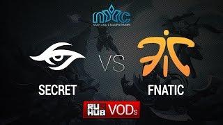 Secret vs Fnatic, game 1