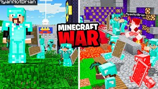 We made a HIGH SECURITY Minecraft Castle (Hide Or War)