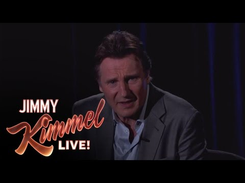 Liam Neeson - Liam fulfills an unusual request from one of his fans in the audience. Jimmy Kimmel Live - Liam Neeson Threatens a Fan on Jimmy Kimmel Live #KIMMEL Jimmy Kim...