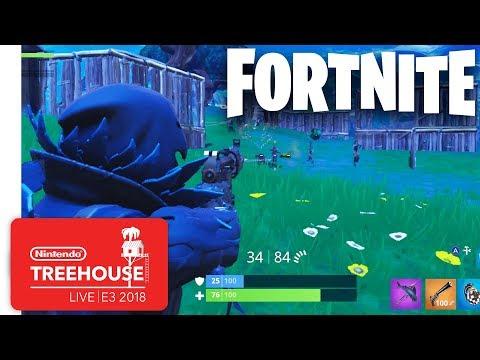 Fortnite Gameplay - Nintendo Treehouse: Live | E3 2018