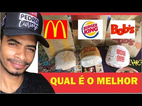 O HAMBURGUER MAIS BARATO - McDonald's, Burger King, Bob's