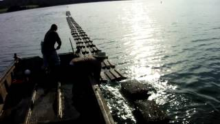 Narooma Australia  city images : NAROOMA AUSTRALIA OYSTER FARM USING ZAPCO.THE GUYS ARE FLIPPING THE BAGS TO AIRDRY THEIR OYSTERS