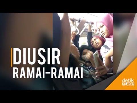 VIral Video Pelaku Pelecehan Seksual Diusir dari KRL