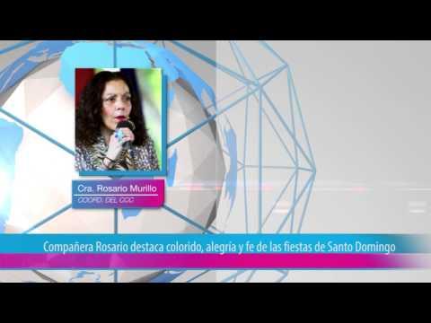Compañera Rosario destaca colorido, alegría y fe de las fiestas de Santo Domingo