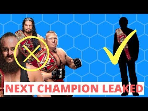 Next Wwe Universal Champion Leaked! Mitb Update!