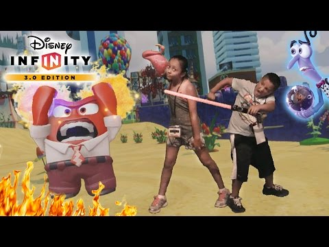 DISNEY INFINITY 3.0 INSIDE OUT Fun!!  Fighting Anger, Impersonating & Surprises @ E3 2015