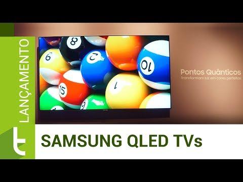 Lançamento das novas QLED TVs da Samsung  TudoCelular.com