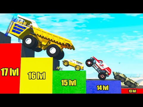 Cars Climb to Highest Level - Beamng drive