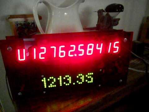 Arduino NTP Network clock /w 7-Segment and LED Matrix displays (Update2)