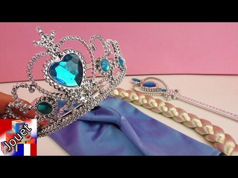 La reine des neiges Elsa français set carnaval de déguisement – Accessoires la reine des neiges