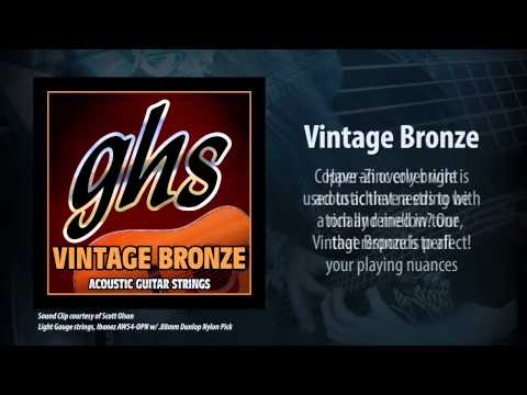 GHS Strings - Vintage Bronze Acoustic Strings