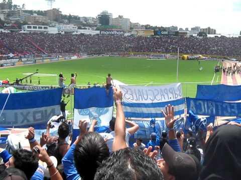 Video - Cánticos de la hinchada de Emelec previo a la salida del equipo en la Final 2011 estadio Atahualpa - Boca del Pozo - Emelec - Ecuador