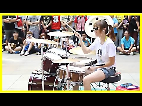 Super Talented Girl Does an Awesome Drum Performance