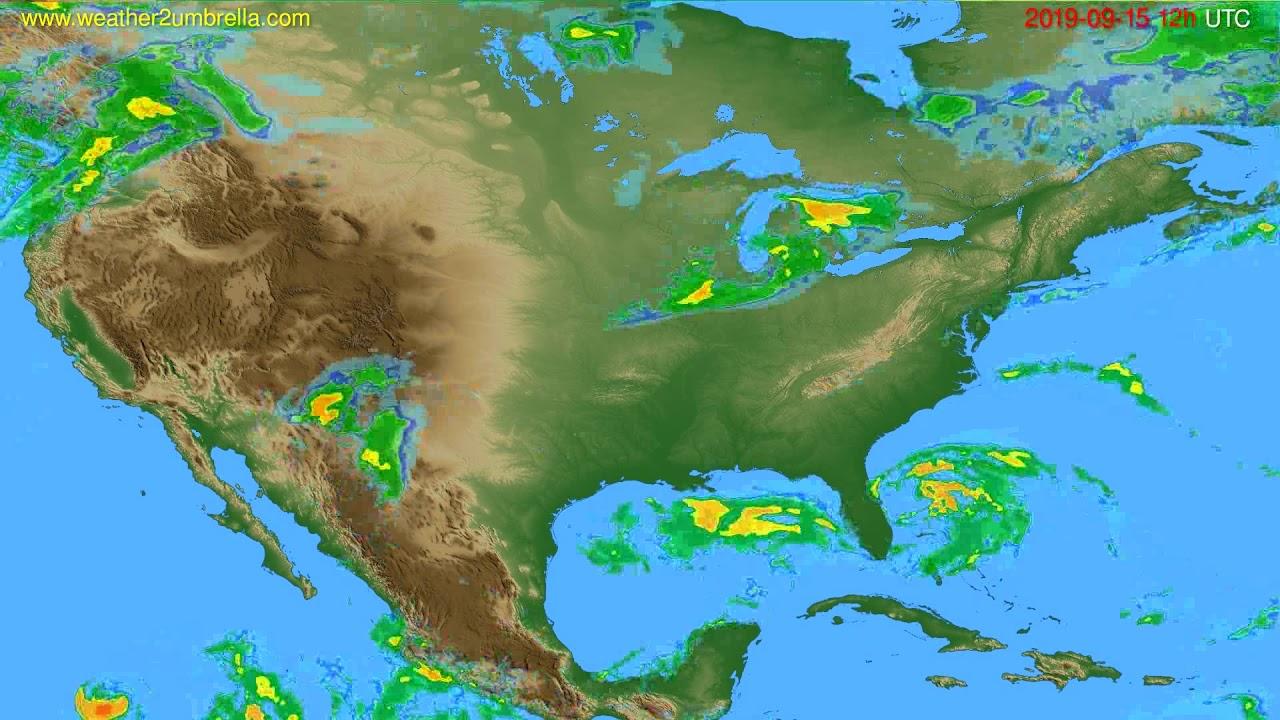 Radar forecast USA & Canada // modelrun: 00h UTC 2019-09-15