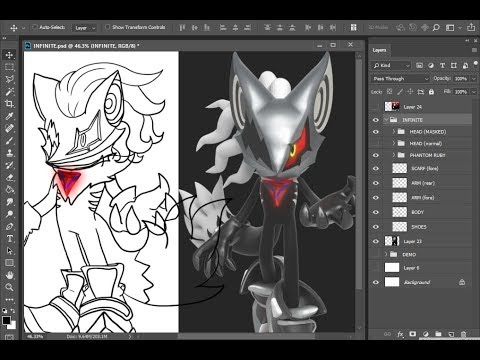 Fun Friday's #91: Coloring Infinite the Jackal (Doodles From Sonic Forces!)