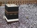 Hajj view of the Kaaba as pilgrims walk