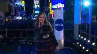 Tiffany Alvord's Live Performance in Times Square New York