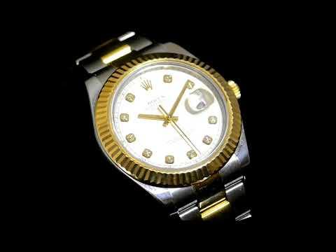 Men's Stainless Steel/18k Yellow Gold Rolex Datejust Automatic Wristwatch. Original 41mm Case