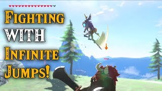 Fighting WITH Infinite Jumps in Mid Air!! PFFFFFT in Zelda Breath of the Wild