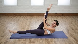 2 minutes to a flat belly with these Pilates-inspired moves from Lisa Corsello, founder and owner of Burn Pilates and LisaCorsello.com.POPSUGAR Fitness offers fresh fitness tutorials, workouts, and exercises that will help you on your road to healthy living, weight loss, and stress relief.  Check out Class FitSugar, our do-it-along-with-us real-time workout show hosted by Anna Renderer who will inspire you to sweat alongside fitness experts and Hollywood's hottest celebrity trainers. Class FitSugar regularly covers the most buzzed-about workout classes and trends, including the Victoria's Secret workout, Tabata, P90X, Bar Method, and more.Subscribe to POPSUGAR Fitness!http://www.youtube.com/subscription_center?add_user=popsugartvfitCheck out the rest of our channel:https://www.youtube.com/user/popsugartvfit