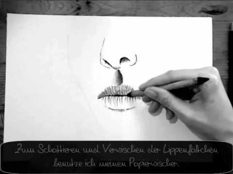 Mund zeichnen – Tutorial (für Anfänger)