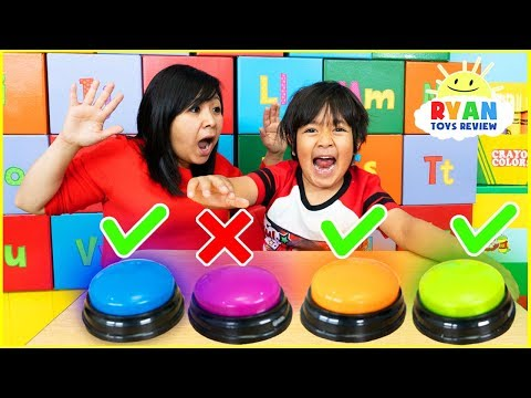 Don't Push The Wrong Button Challenge with Ryan ToysReview
